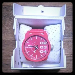 Hot pink diesel watch
